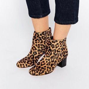 Sam Edelman Edith Leopard Calf Hair Ankle Boots